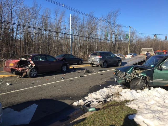 A woman allegedly high on drugs caused a multi-car crash on Thursday in Ramapo.