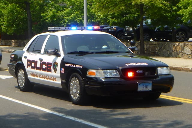 New Canaan Police charged a South Salem, N.Y. man with breach of peace after he was found naked outside.