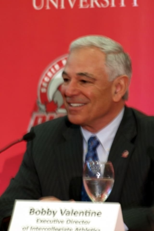 Stamford native Bobby Valentine at Fairfield's Sacred Heart University