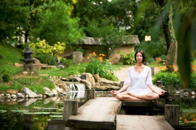 Practice free yoga and meditation every Wednesday in October at the Teaneck Library.