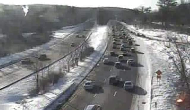 A look at conditions on the Taconic State Parkway at Route 9A/Route 100 Friday morning.